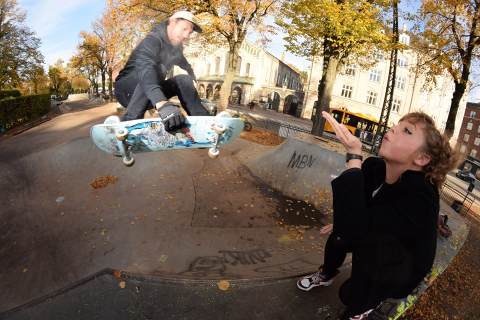 Madsen doing some lovely frontside air. Vesterbro Copenhagen, Photo: Rasmus Bønnelykke.