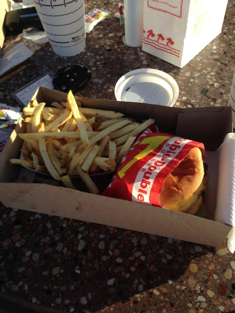 I guess a first time visit to In 'N Out was appropriate after this skate session. Tobias Bisse told me to go 'Animal Style'. I didn't. He then told me that i blew it.