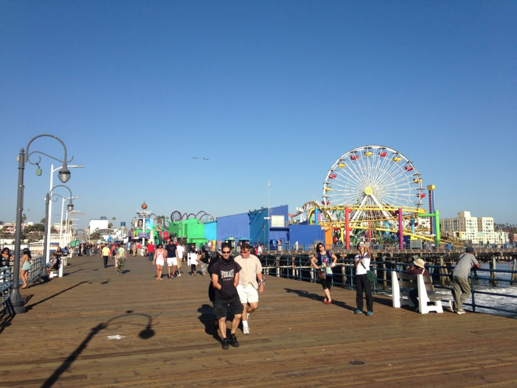 Back in Santa Monica 'cus that place was rad.
