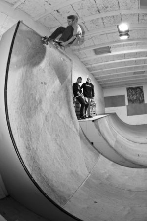 (2012) Lien to tail in his hometown Odense. Duck down or you'll hit the ceiling. Photo by Morten Westh