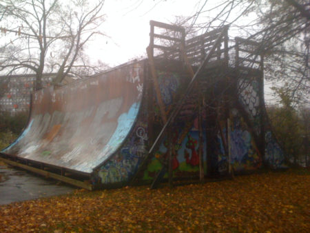 This looks very sad, Fælledparken RIP VERT RAMP. Photo: Thomas Kring