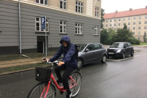 Jimmy,  on the bike,  in the rain,  all day . Copenhagen Open 2017