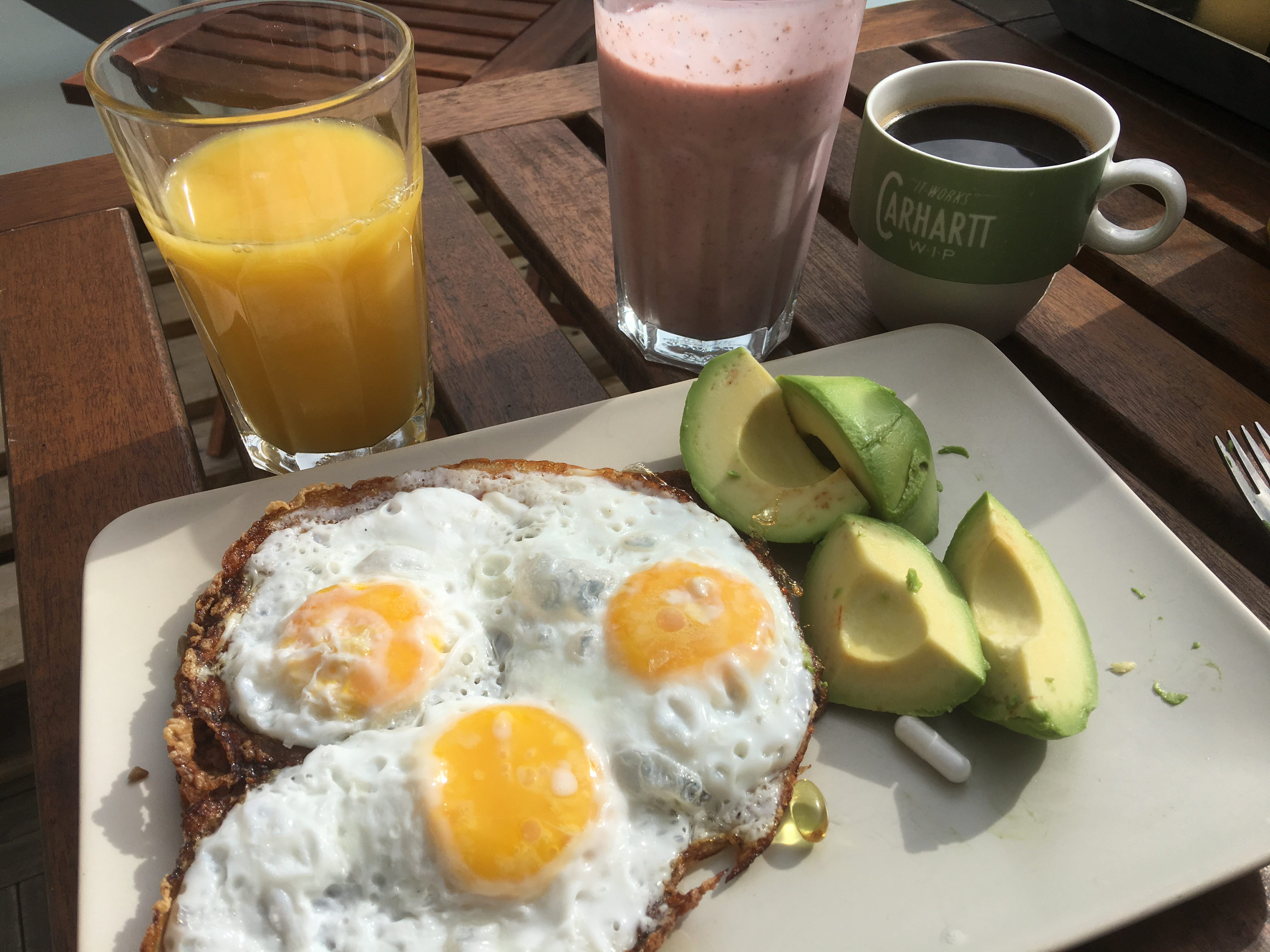 Starting the day with a GOOD breakfast is important if you wanna last for sessions and sessions...this is a hammer meal.