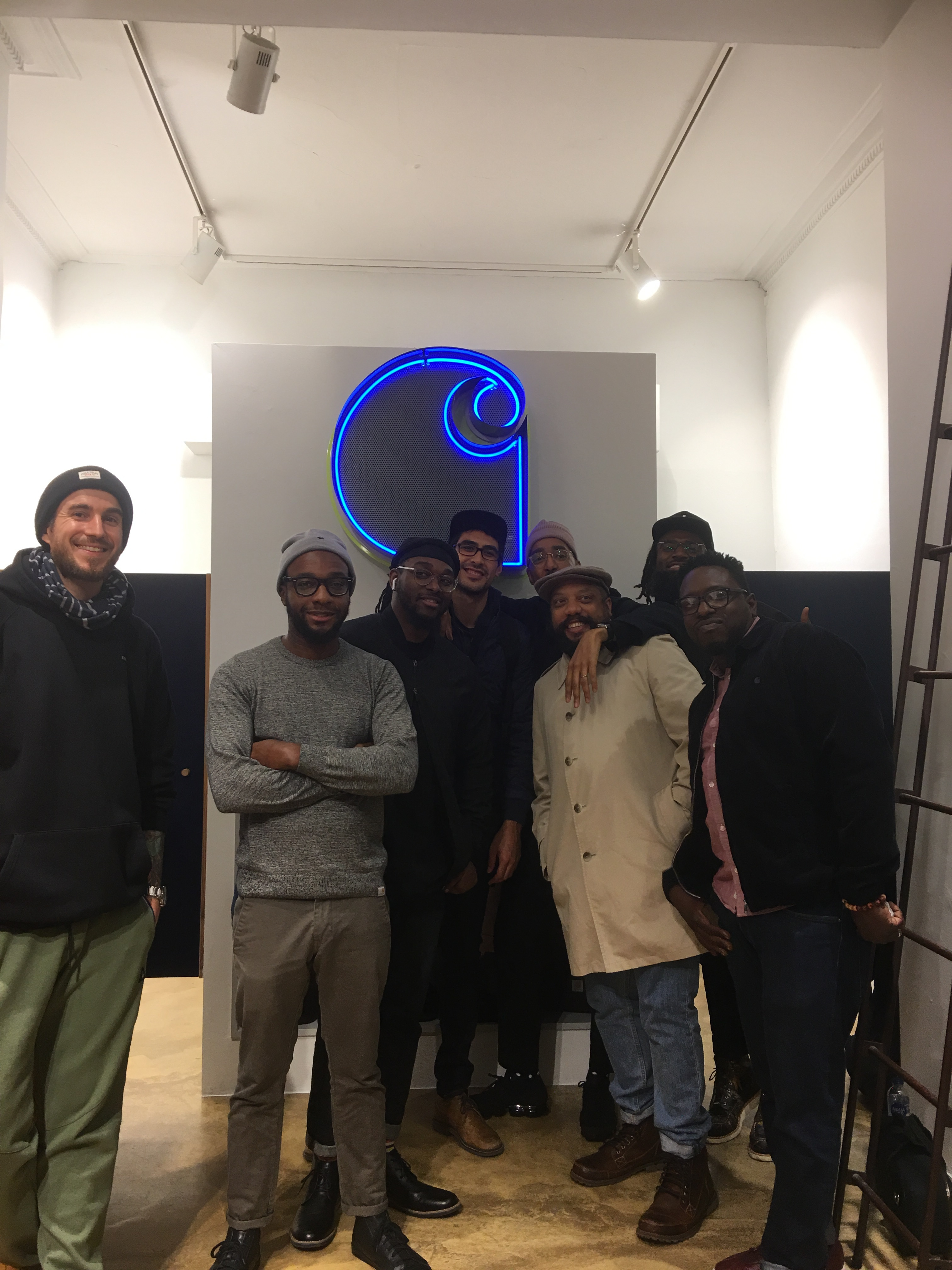 Oddisee and thegoodcompny on the Island tour, in the Carhartt WIP store , Krystalgade .