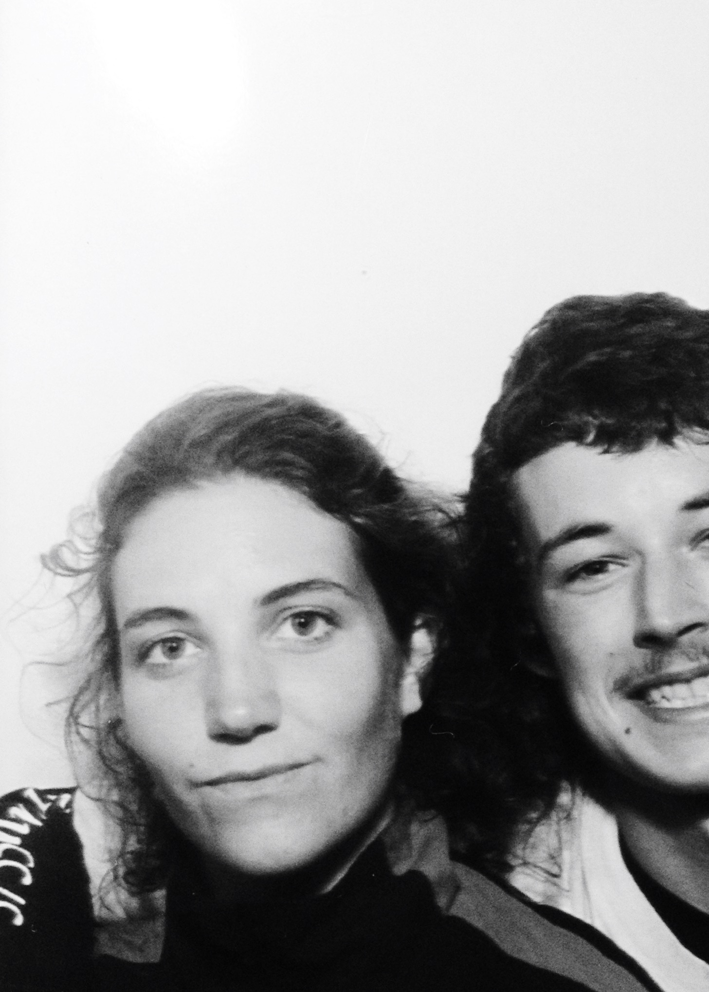 a picture of me and the woman i share life with ( Lou Salasca ) taken in one of the photo booths at House of Vans London
