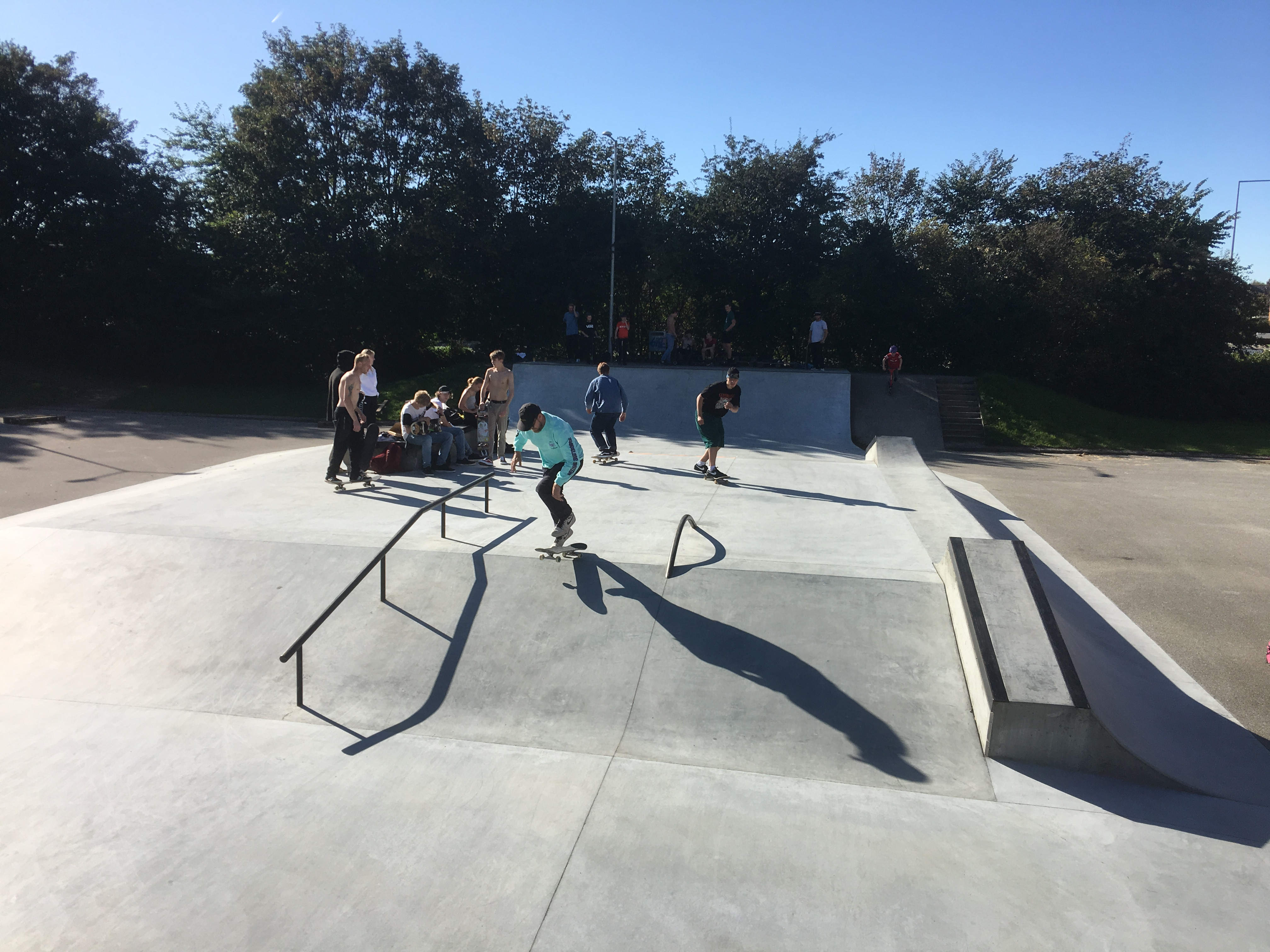 Struer skatepark with locals  and hanging outs