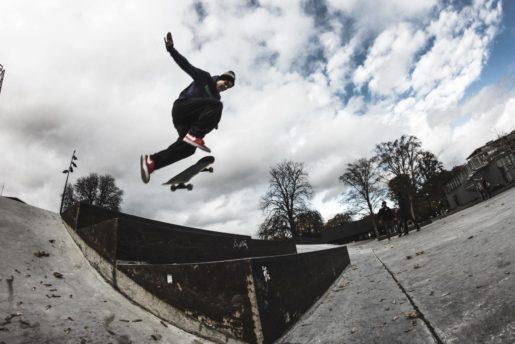 Christopher Luplau Bransner. 360 flip, parken, Copenhagen. foto: unknown