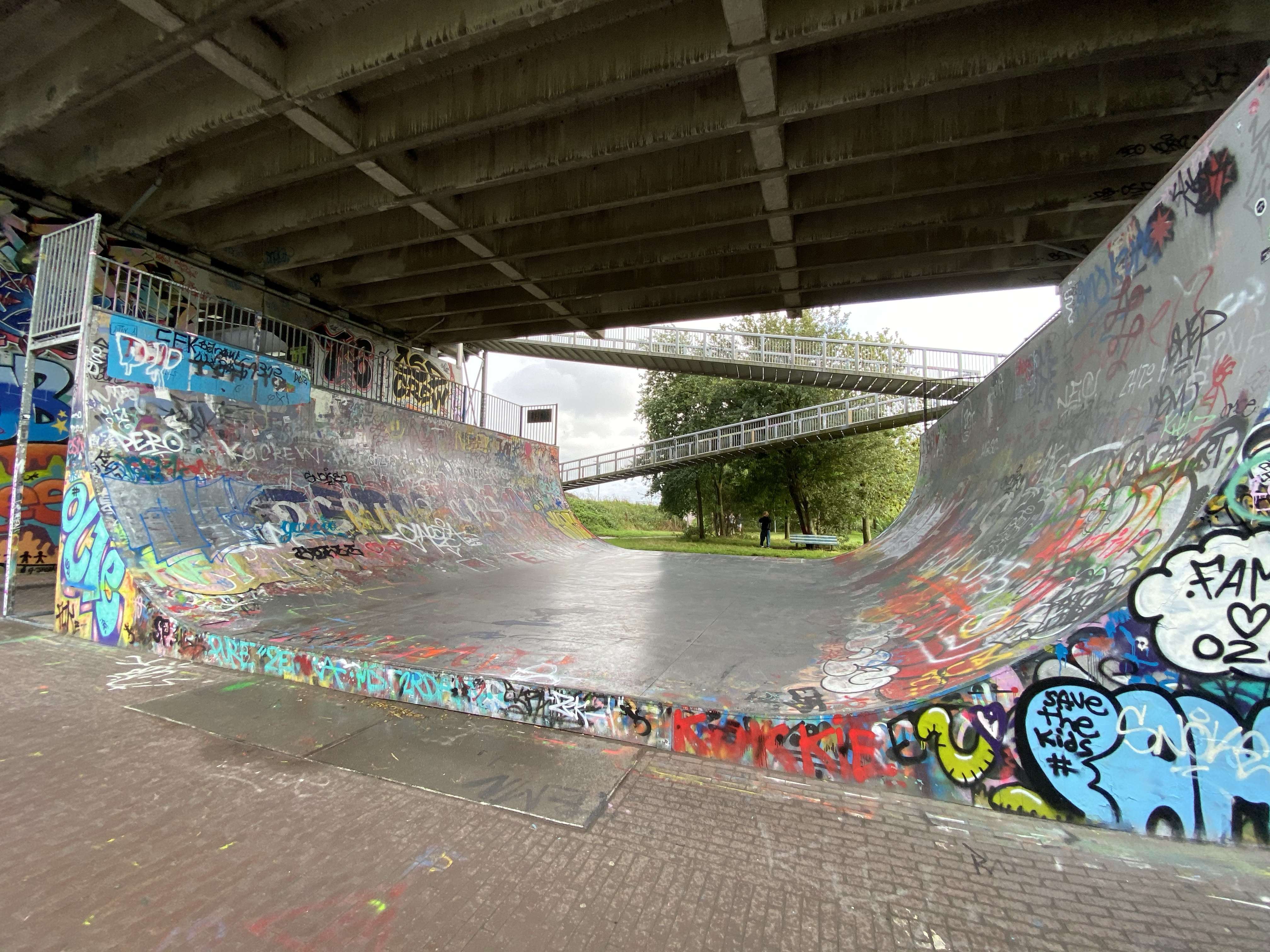 Amsterdam Ramp, under the bridge.